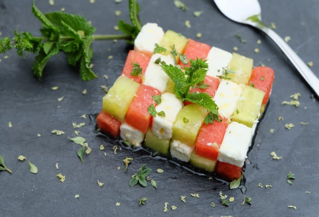 wassermelone gurken feta salat mit honigdressing cooking is love. Black Bedroom Furniture Sets. Home Design Ideas